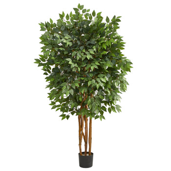 5 Super Deluxe Ficus Artificial Tree with 2100 Bendable Branches - SKU #T1407