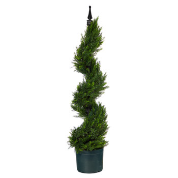 3 Cypress Spiral Topiary Artificial Tree - SKU #T1412