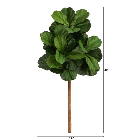 3.5 Fiddle Leaf Artificial Tree No Pot - SKU #T1420 - 1