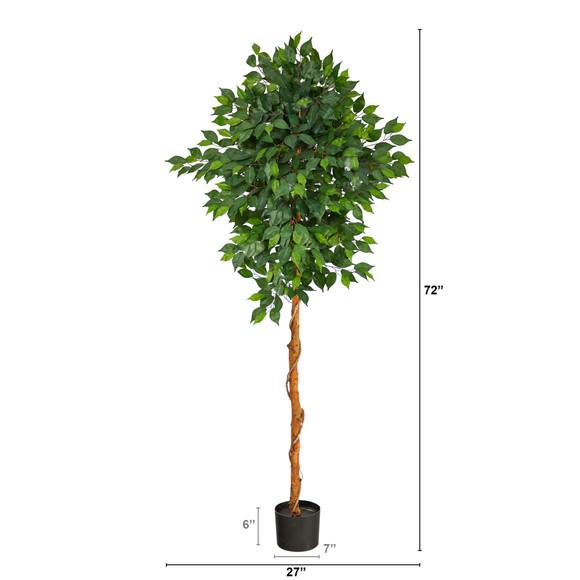 6 Ficus Artificial Tree - SKU #T1441 - 1