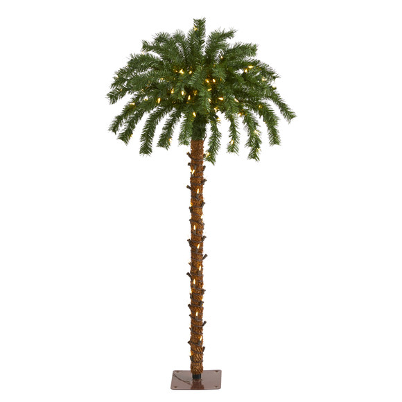 4 Christmas Palm Artificial Tree with 150 Warm White LED Lights - SKU #T1450