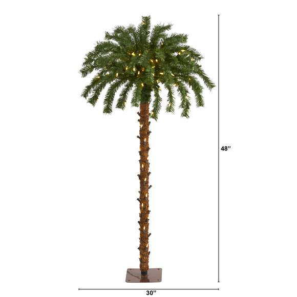 4 Christmas Palm Artificial Tree with 150 Warm White LED Lights - SKU #T1450 - 1