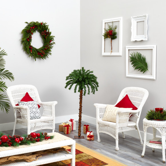 4 Christmas Palm Artificial Tree with 150 Warm White LED Lights - SKU #T1450 - 5