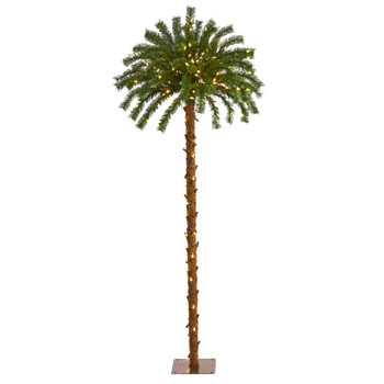 5 Christmas Palm Artificial Tree with 150 Warm White LED Lights - SKU #T1451