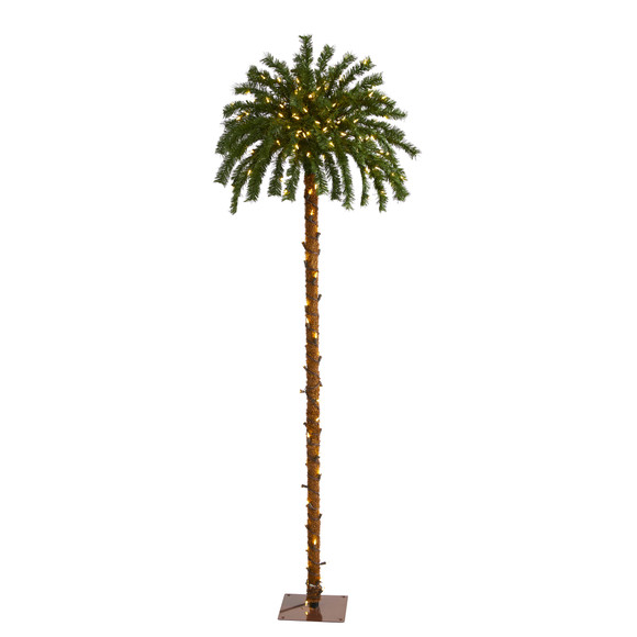6 Christmas Palm Artificial Tree with 200 Warm White LED Lights - SKU #T1452