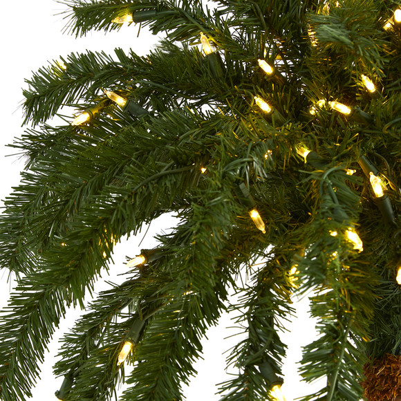 6 Christmas Palm Artificial Tree with 200 Warm White LED Lights - SKU #T1452 - 2
