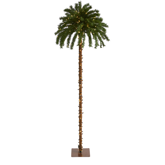 7 Christmas Palm Artificial Tree with 300 White Warm LED Lights - SKU #T1453