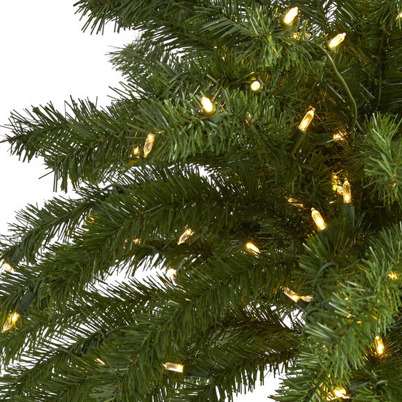 7 Christmas Palm Artificial Tree with 300 White Warm LED Lights - SKU #T1453 - 2