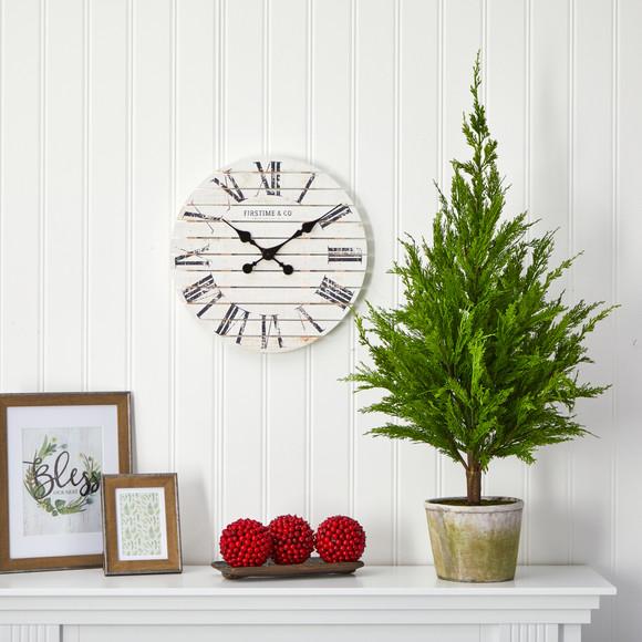 3.5 Cedar Pine Natural Look Artificial Tree in Decorative Planter - SKU #T1512 - 2