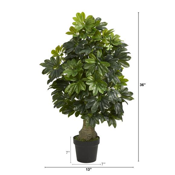 3 Schefflera Artificial Tree Real Touch - SKU #T1521 - 1