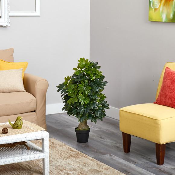 3 Schefflera Artificial Tree Real Touch - SKU #T1521 - 2