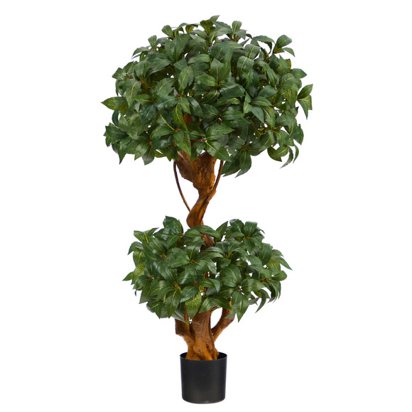 3 Sweet Bay Double Ball Topiary Artificial Tree - SKU #T1530