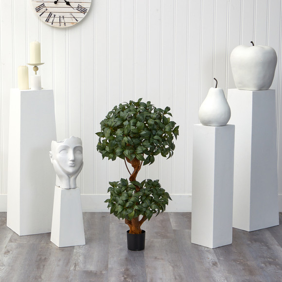3 Sweet Bay Double Ball Topiary Artificial Tree - SKU #T1530 - 2