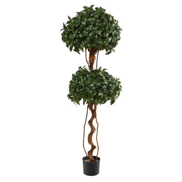 5 Sweet Bay Double Ball Topiary Artificial Tree - SKU #T1531