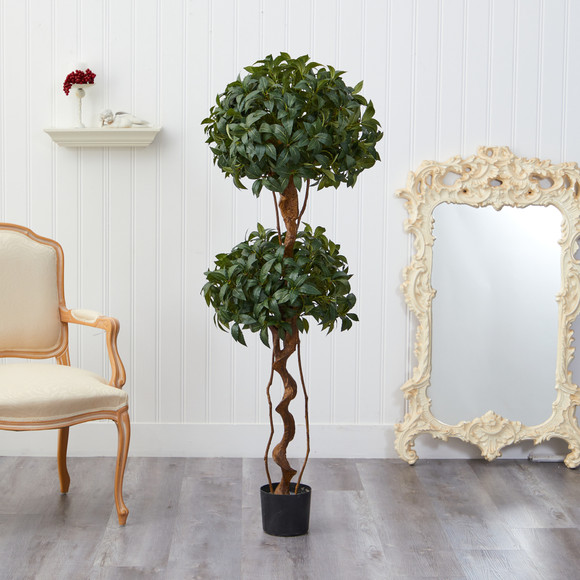 5 Sweet Bay Double Ball Topiary Artificial Tree - SKU #T1531 - 2