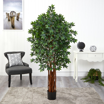 5.5 Lychee Artificial Tree with Natural Trunk - SKU #T1541