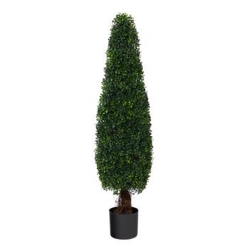 4 Boxwood Topiary Artificial Tree UV Resistant Indoor/Outdoor - SKU #T1542