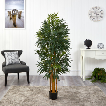 5 Phoenix Palm Artificial tree with Natural Trunk - SKU #T1546