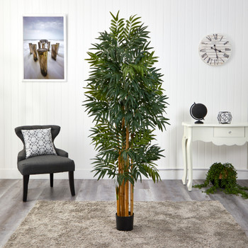 5.5 Phoenix Artificial Palm tree with Natural Trunk - SKU #T1547