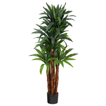 4.5 Dracaena Artificial Tree with Natural Trunk - SKU #T1552