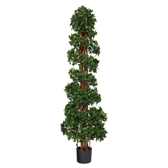 5.5 English Ivy Topiary Spiral Artificial Tree UV Resistant Indoor/Outdoor - SKU #T1555