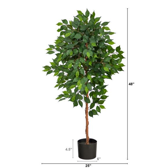4 Ficus Artificial Tree - SKU #T1579 - 1