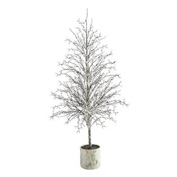 6 Snowed Twig Artificial Tree in Decorative Planter - SKU #T1595