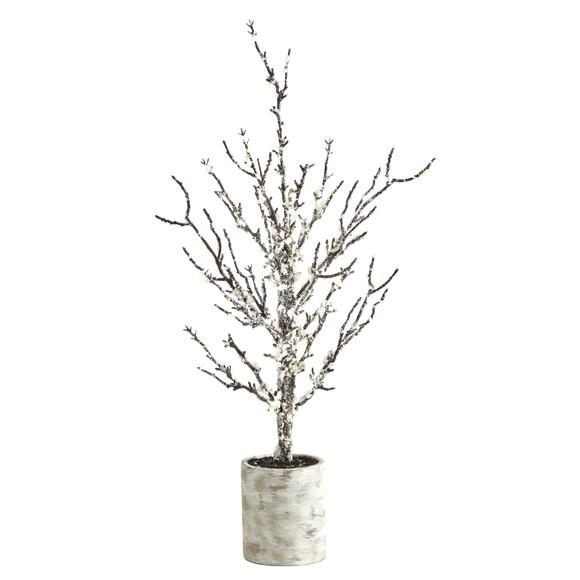 24 Snowed Twig Artificial Tree in Decorative Planter - SKU #T1596