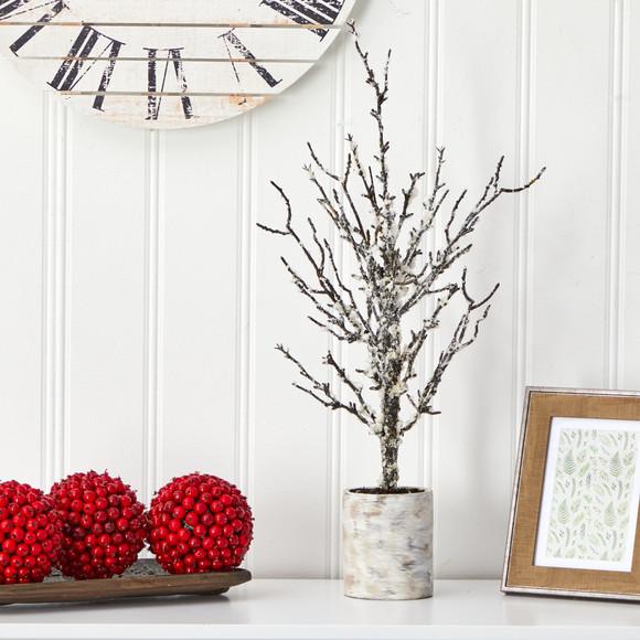24 Snowed Twig Artificial Tree in Decorative Planter - SKU #T1596 - 2