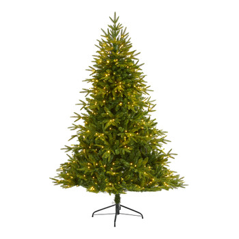6 Colorado Mountain Fir Natural Look Artificial Christmas Tree with 350 Clear LED Lights and 1704 Bendable Banches - SKU #T1687