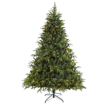 7.5 Colorado Mountain Fir Natural Look Artificial Christmas Tree with 600 Clear LED Lights and 3048 Bendable Branches - SKU #T1690