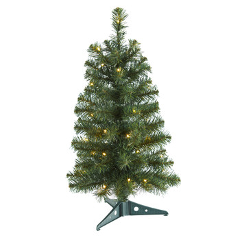 2 Green Artificial Christmas Tree with 35 LED Lights and 72 Bendable Braches - SKU #T1699