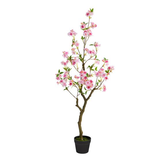 4 Cherry Blossom Artificial Plant - SKU #T1700