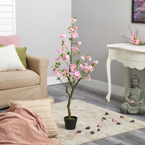 4 Cherry Blossom Artificial Plant - SKU #T1700 - 3