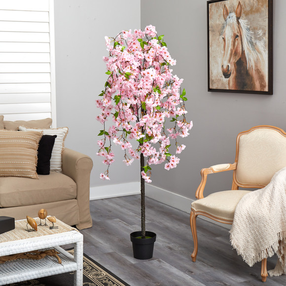 5 Cherry Blossom Artificial Tree - SKU #T1701 - 3