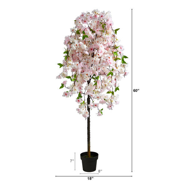 5 Cherry Blossom Artificial Tree - SKU #T1702 - 1