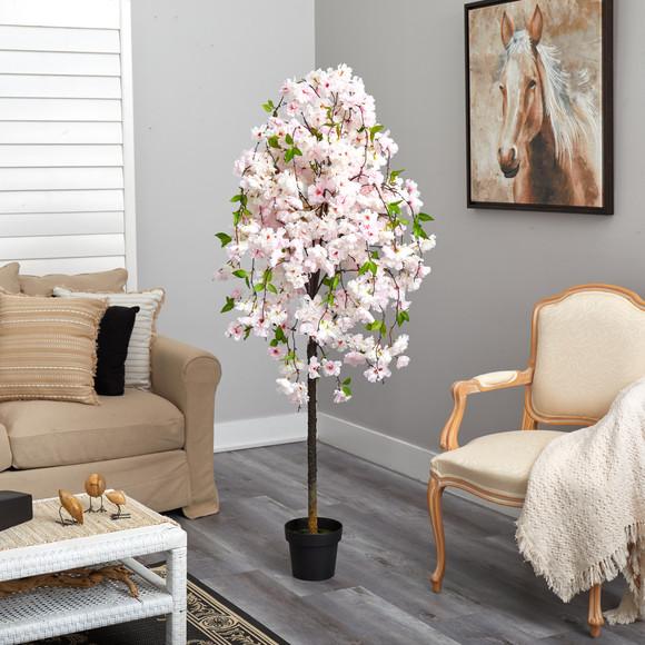 5 Cherry Blossom Artificial Tree - SKU #T1702 - 3