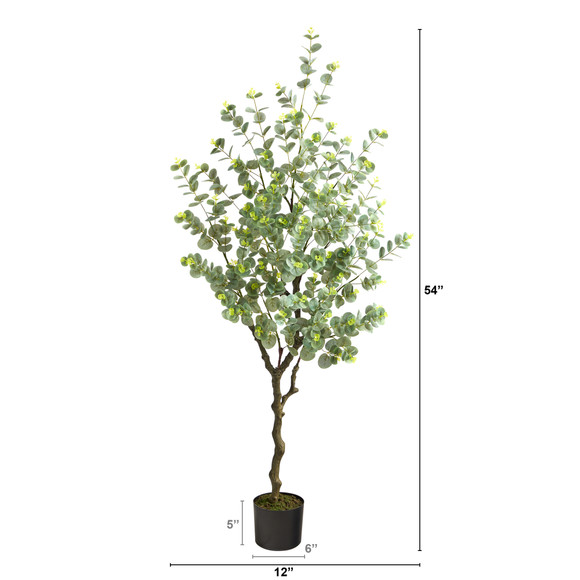 4.5 Eucalyptus Artificial Tree - SKU #T1703 - 1