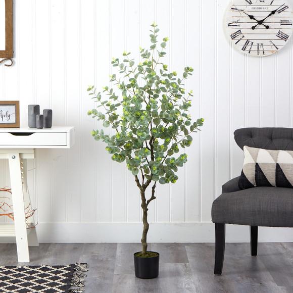 4.5 Eucalyptus Artificial Tree - SKU #T1703 - 2