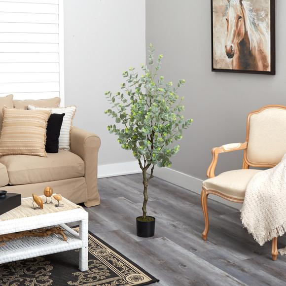 4.5 Eucalyptus Artificial Tree - SKU #T1703 - 3