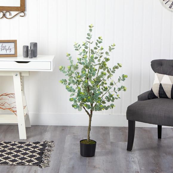 4 Eucalyptus Artificial Tree - SKU #T1704 - 2