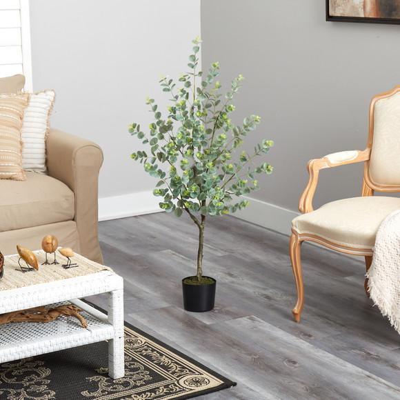 4 Eucalyptus Artificial Tree - SKU #T1704 - 3
