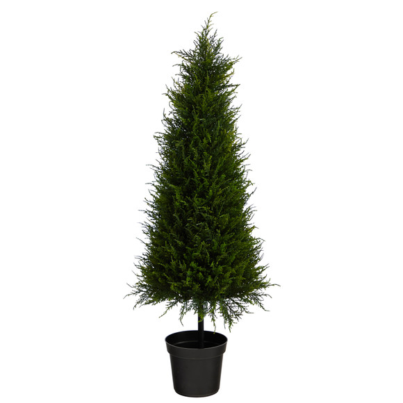 3.5 Cypress Artificial Tree with 350 LED Lights UV Resistant Indoor/Outdoor - SKU #T1708 - 2