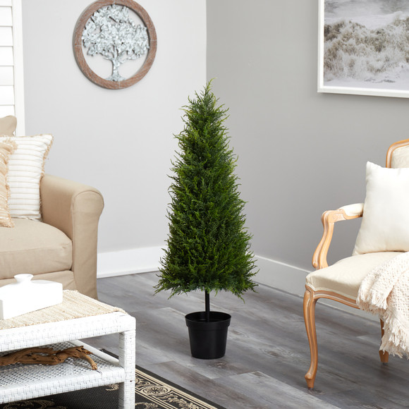 3.5 Cypress Artificial Tree with 350 LED Lights UV Resistant Indoor/Outdoor - SKU #T1708 - 6