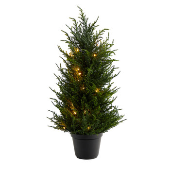 18 Cedar Artificial Tree with LED Lights UV Resistant Indoor/Outdoor - SKU #T1710
