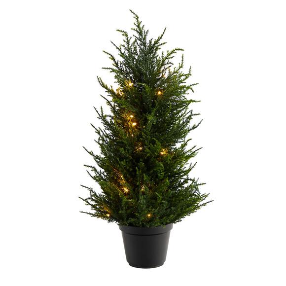 18 Cedar Artificial Tree with LED Lights UV Resistant Indoor/Outdoor - SKU #T1710