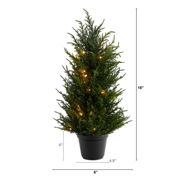 18 Cedar Artificial Tree with LED Lights UV Resistant Indoor/Outdoor - SKU #T1710 - 1
