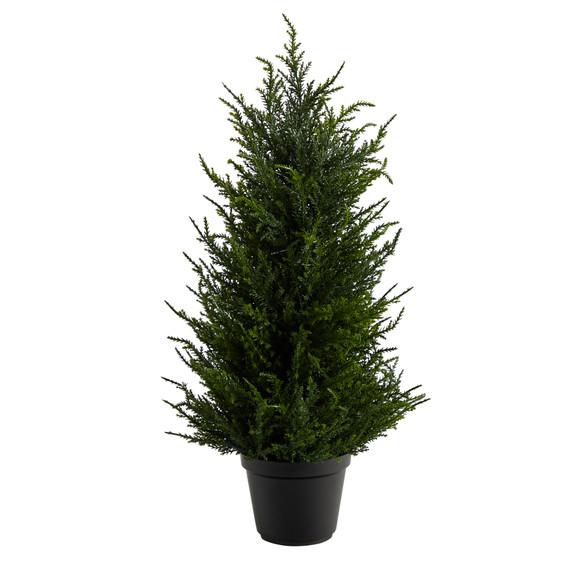 18 Cedar Artificial Tree with LED Lights UV Resistant Indoor/Outdoor - SKU #T1710 - 2