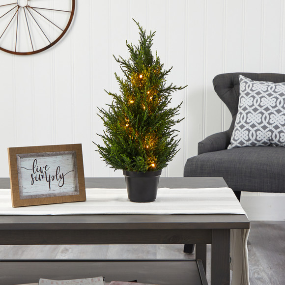 18 Cedar Artificial Tree with LED Lights UV Resistant Indoor/Outdoor - SKU #T1710 - 3