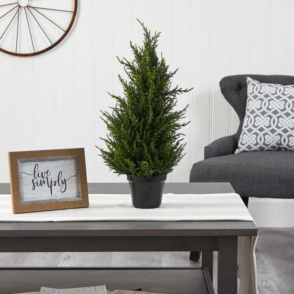 18 Cedar Artificial Tree with LED Lights UV Resistant Indoor/Outdoor - SKU #T1710 - 4